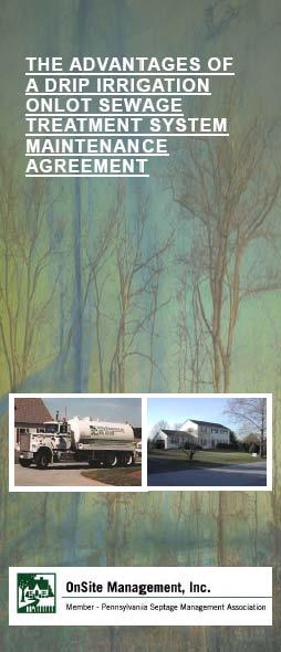 Drip Irrigation Septic System Maintenance Brochure